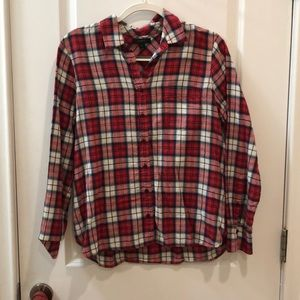 J. Crew plaid button down